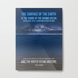 The Shores of the Cosmic Ocean Metal Print