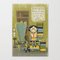 dr seuss Canvas Prints featuring Dr. Seuss by Doreen Marts