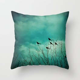Like Birds on Trees Throw Pillow