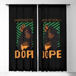 Unapologetically African American Woman Blackout Curtain