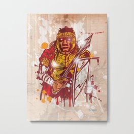 roman warrior hand draw Metal Print