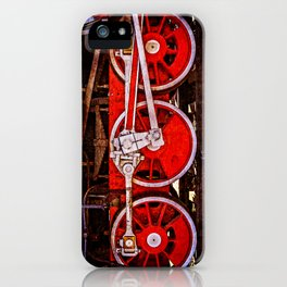 Vintage Steam Train Wheels iPhone Case