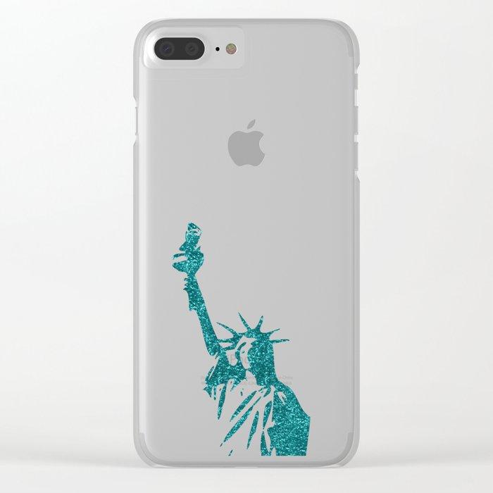 Statue of Glitter Clear iPhone Case