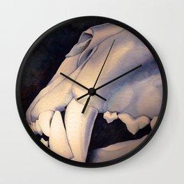 Lion Skull Detail #2 - Panthera leo Wall Clock
