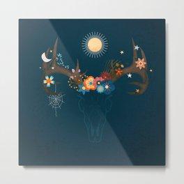 Magic Antlers Metal Print