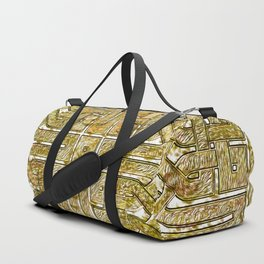 Gold Celtic Knot Square Duffle Bag
