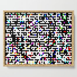 Abstract 8 Bit Pattern Serving Tray