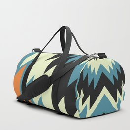 Navajo shapes in orange and blue Duffle Bag