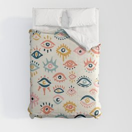 Mystic Eyes – Primary Palette Comforters