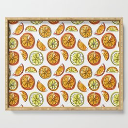 Illustrated Oranges and Limes Serving Tray
