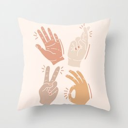 I Don't Know What to Do With My Hands Throw Pillow