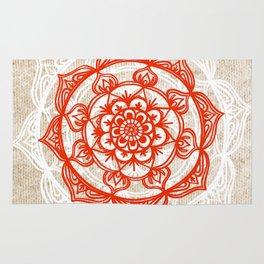 Natural Mandala Knit Rug