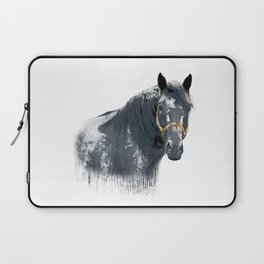 Horse with Golden Bridle Laptop Sleeve