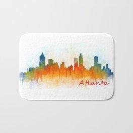 Atlanta City Skyline Hq v3 Bath Mat