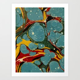Vintage Abstract Art Texture Marble Art Print