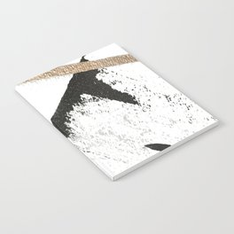 Sassy: a minimal abstract mixed-media piece in black, white, and gold by Alyssa Hamilton Art Notebook