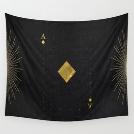 Ace of Diamonds - Golden cards Wall Tapestry