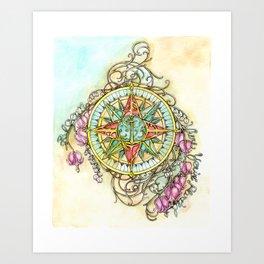 Blooming Compass Art Print