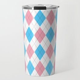 Transgender Argyle Travel Mug