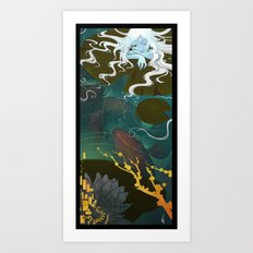 Sprite and Lilies Art Print