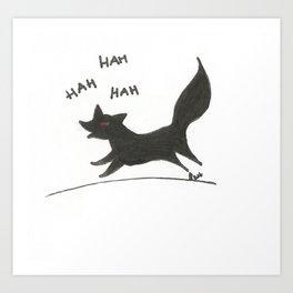 Run fox, run Art Print