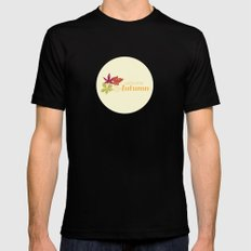 Welcome Autumn Mens Fitted Tee MEDIUM Black