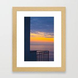 Balcony on the sea Framed Art Print