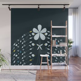 Night Garden Pattern Wall Mural