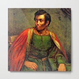 African American Shakespearian actor Ira Aldridge Painting by Henry P. Briggs Metal Print