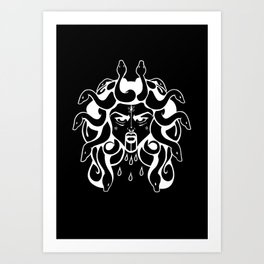Death Gorgon Art Print