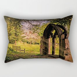 Manor house landscape. Rectangular Pillow
