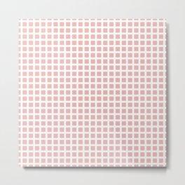 Grid Pattern 312 Dusty Rose Metal Print