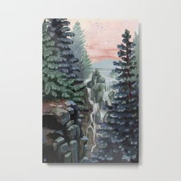 Mount Rainier National Park (Pastel Sunset) Metal Print