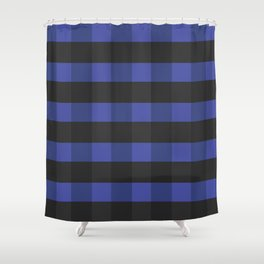Blue_Black Square Shower Curtain