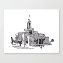 5dcc954a89db Draper Utah LDS Temple Canvas Print
