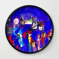 regular show Wall Clocks featuring Regular Party by winterknight