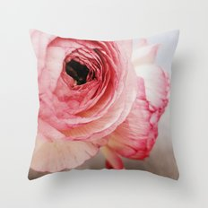 Pink Ranunculus Throw Pillow