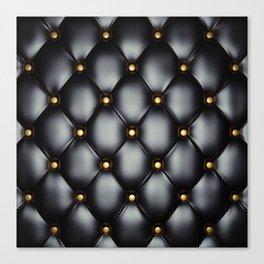 Black upholstery pattern Canvas Print