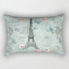Paris - my love - France Eiffeltower Nostalgy- French Vintage on #Society6 Rectangular Pillow