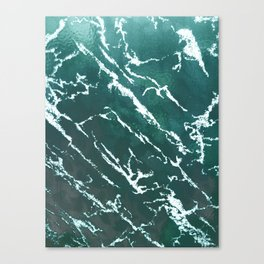 Green textured marble design for gifts, tshirt, cases, wallart, notebook Canvas Print