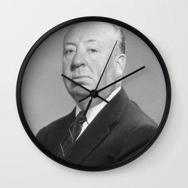 Alfred Hitchcock Portrait Wall Clock