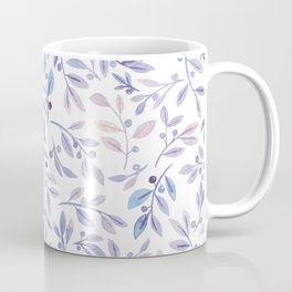 Leaves and Berries   Blush and Purple Palette Coffee Mug