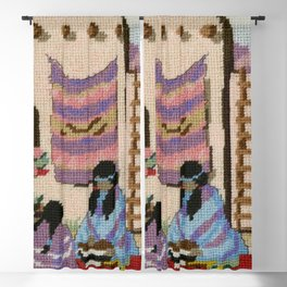 Cross Stitch Southwest Art 1a by Kathy Morton Stanion Blackout Curtain