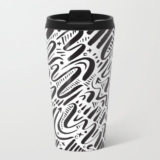 SQUIGGLY WIGGLY Metal Travel Mug