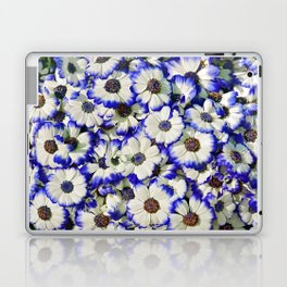 White and Blue Daisies II Laptop & iPad Skin