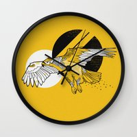 hawk Wall Clocks featuring Hawk by Randyotter