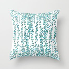 string of pearl watercolor Throw Pillow