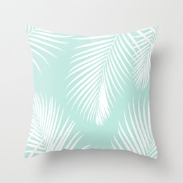 Mint Tropical Pattern Throw Pillow