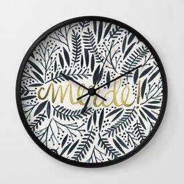 Pardon My French – Black & Gold Wall Clock