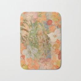 Tiki Flower Bath Mat